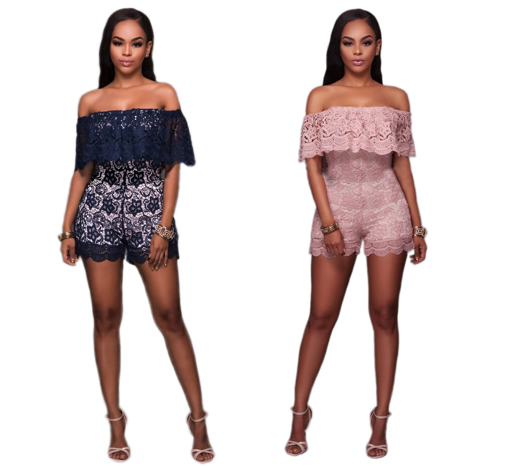 354c54ccee0780 Womens Beautiful Lace Off Shoulder Sexy Romper – ShoeSity