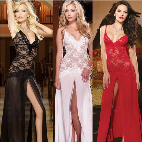Womens Classy Sexy Lace Nightgown Lingerie