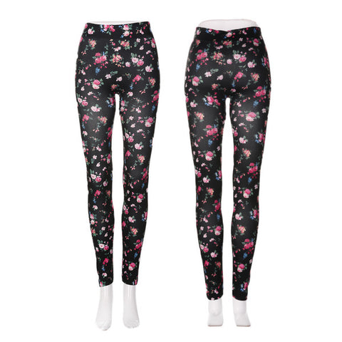 Womens Lovely Floral Pattern Fashion Leggings