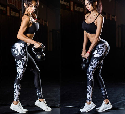 Womens Beautiful Cool Yoga Fitness Stretch Leggings