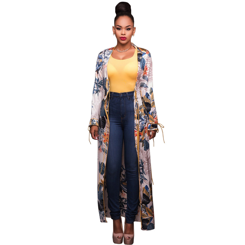 Womens Beautiful Design Long Chiffon Jacket Shoesity