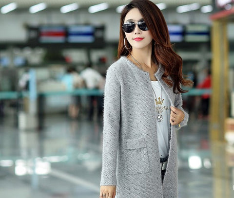 Womens Trendy Loose Cardigan Coat Sweater