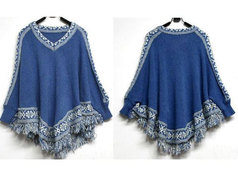 Womens Lovely Loose Tassel Stylish Sweater