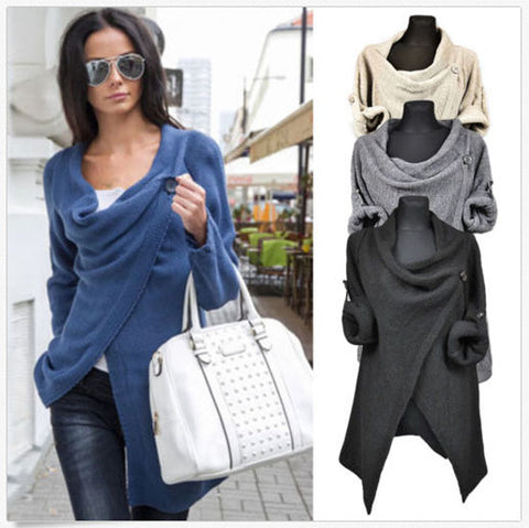 Womens Stylish Loose Knit Fashion Sweater
