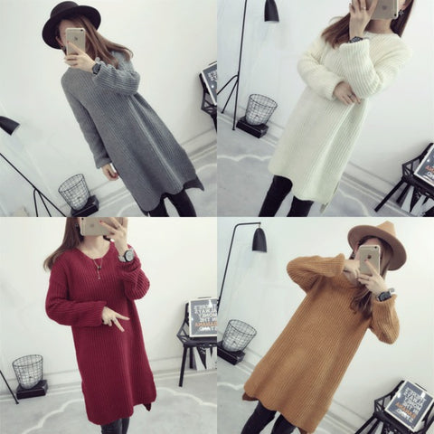 Womens Beautiful Long Knit Loose Sweater