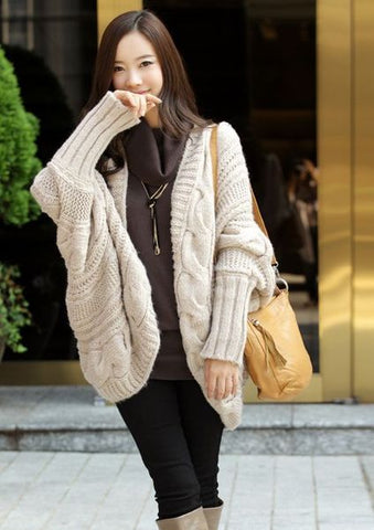 Womens Lovely Loose Warm Knit Winter Sweater