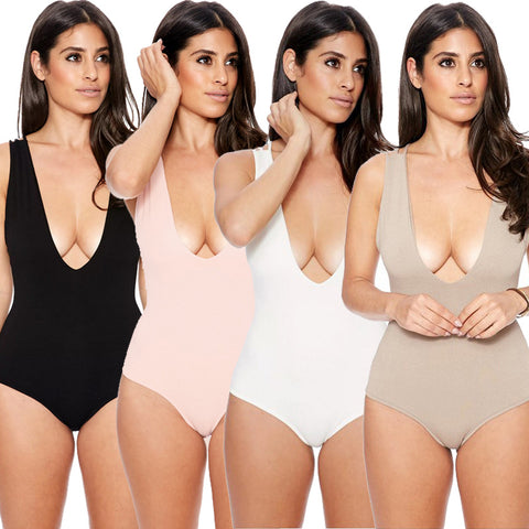 Womens Stylish Simple Monokini One-Piece Swimsuit