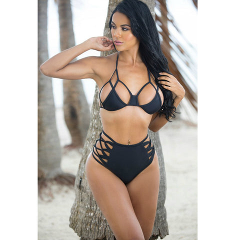 Womens Edgy Sexy Brazilian Stylish Bikini Swimsuit
