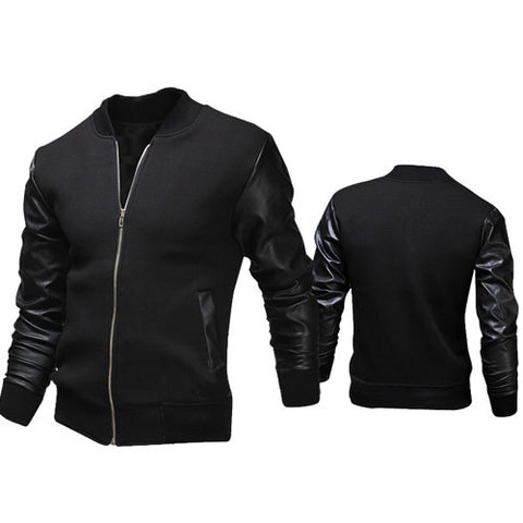 Mens Slim Letterman Jacket