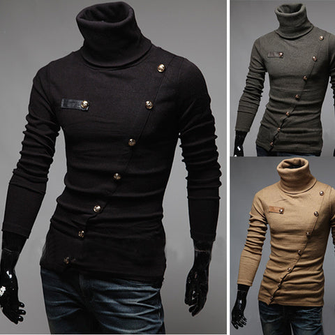 Mens Cool Trendy Turtleneck Sweater
