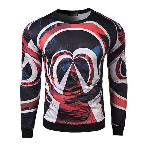 Mens Slim Trendy Design Long Sleeve Shirt