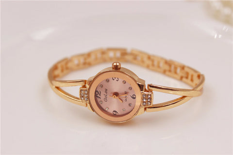 Trendy Metal Bracelet Style Bling Watch