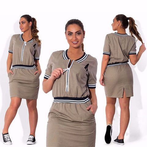 Cool Casual Plus Size Modern Dress