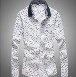 Mens Slim Multi Design Dress Shirt