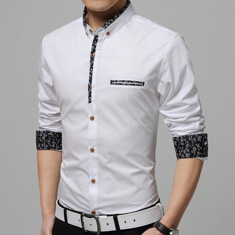Mens Edgy Outline Design Dress Shirt
