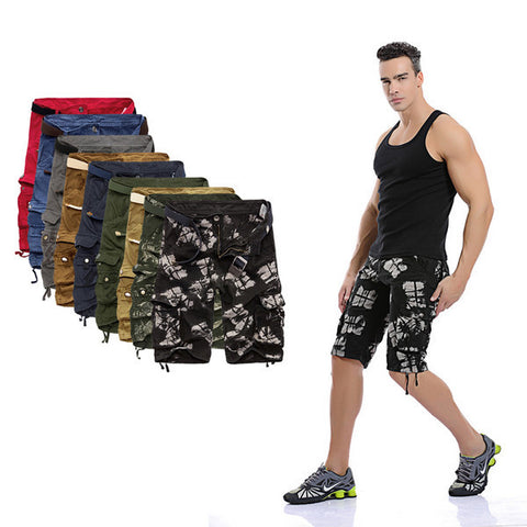 Mens Cool Paint Patterned Shorts