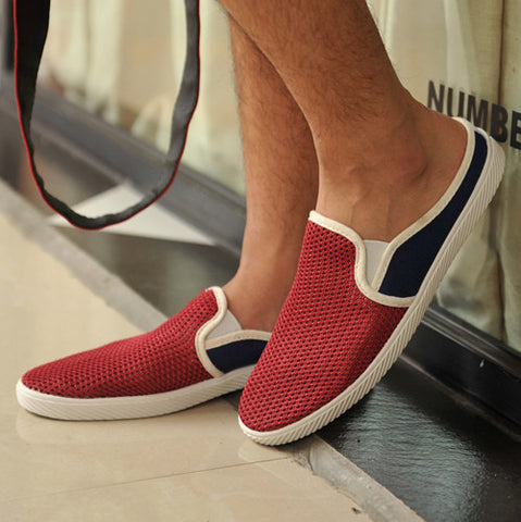 Mens Casual Perforated Loafers
