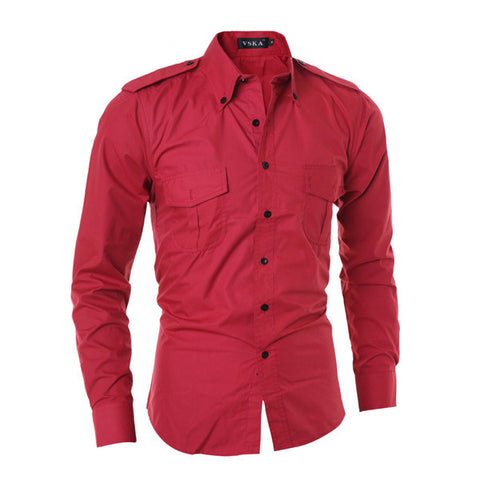 Mens Cool Dual Pocket Protector Dress Shirt