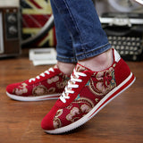 Mens Cool Flower Print Sneakers