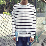 Mens Stripe Pullover Sweater