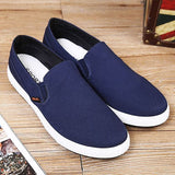 Mens Flat Slip-On Canvas Shoes