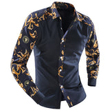 Mens Stylish Sleeves and Front Dress Shirt