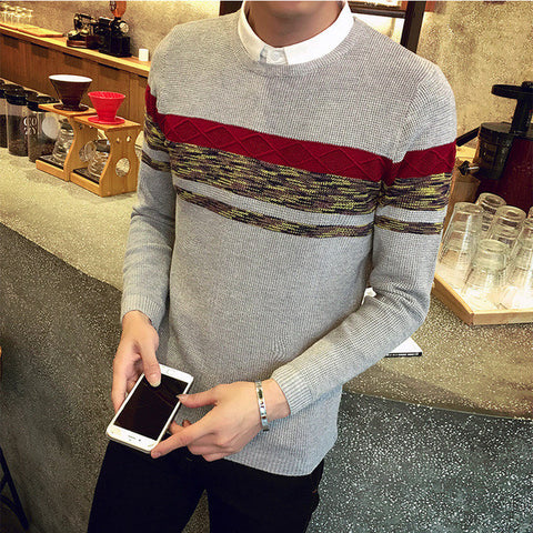 Mens Trendy Autumn Slim Sweater