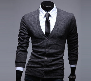 Mens Slim Casual Cardigan Sweater