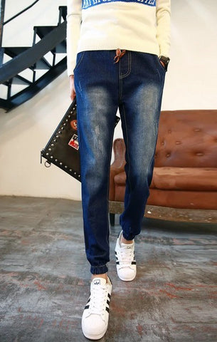 Mens Slim Thigh Wash Jeans