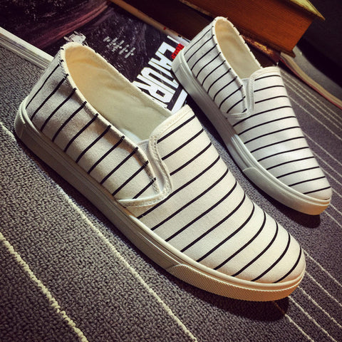 Mens Slip-On Stripe Loafer Shoes