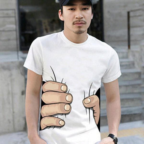 Mens Funny Squeezed Tee