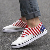 Mens Stars and Stripes Canvas Shoes
