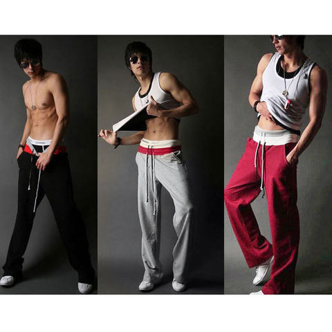 Mens Straight Sweat Pants