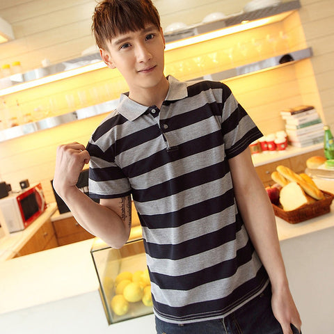 Mens Cool Striped Polo