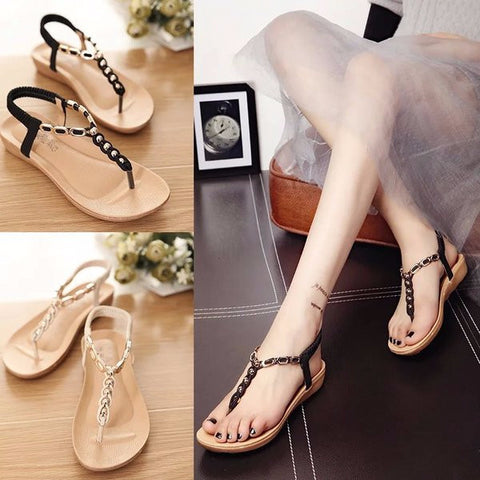 Stylish Casual T-Strap Ankle Sandals
