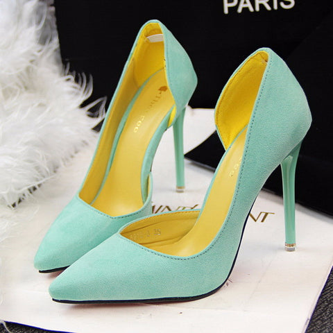 Stylish Design Point Toe Trendy Heels