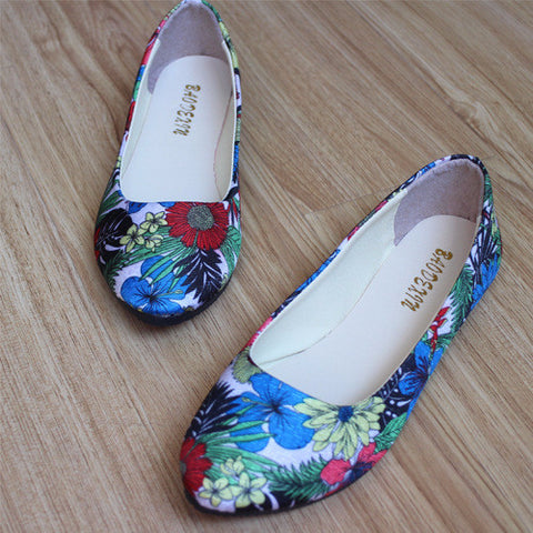 Stylish Simple Floral Casual Flats