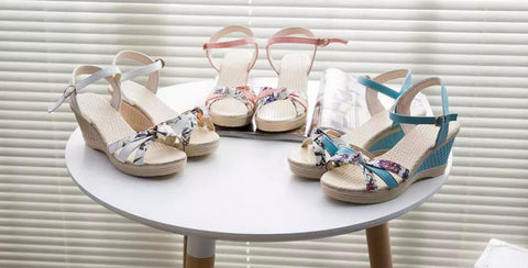 Stylish Summer Casual Ankle Strap Sandal Wedges