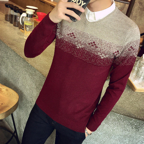 Mens Casual Patterned Sweater