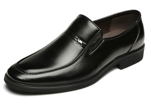 Mens Sleek Modern Slip-On Dress Boots