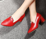 Womens Charming Office Low Heels