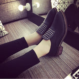 Womens Sleek Rivet Slip-On Boots