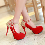 Womens Close Toe Platform Pump Stiletto Heels
