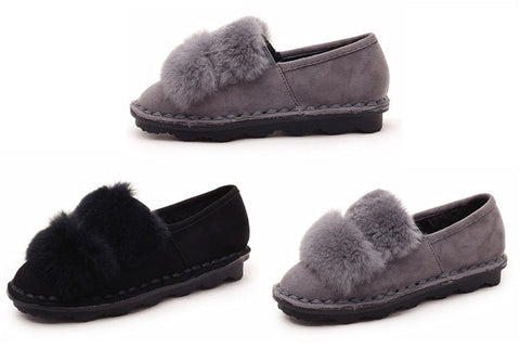 Womens Trendy Fuzzy Cute Casual Shoes