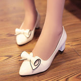 Womens Cute Stylish Ribbon Curl Heels