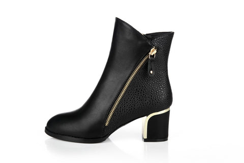 Womens Classy Side Zip Boots