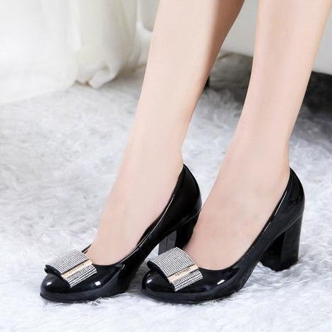 Womens Fashionable Shiny Dress Heels