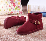 Womens Classic Trendy Ankle Strap Winter Boots