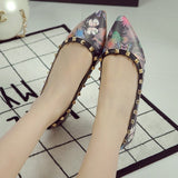 Womens Cute Design Studded Flats