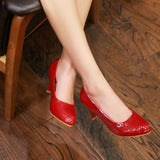Womens Sleek Classy Office Low Heels